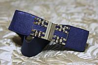 Женский ремень - резинка Т 331 синий