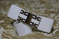 Женский ремень - резинка Т 331 белый