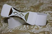 Женский ремень - резинка Т 327 белый