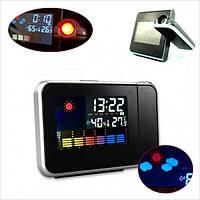 Часы метеостанция с проектором времени Color Screen Calendar