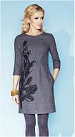 Платье женское теплое с добавлением шерсти Zaps, шерстяное, деловое
