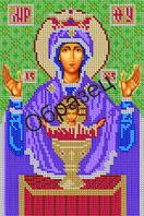 """Схема для вышивки бисером """"Пресвятая Богородица Неупиваемая чаша"""""""