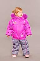 """Верхняя одежда, детская зимняя, комбинезон/комплект для девочки с отстегивающимся капюшоном """"Подружка"""""""