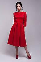 Короткое платье со складами на юбке
