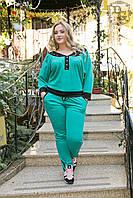 Женский комплект: кофта+штаны больших размеров. . АРТ-0713Д