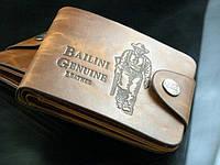 Мужской кошелек. + Подарок Нож кредитка. Кожаное портмоне. Бумажник. Мужской кожаный бумажник