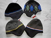 Утепленные флисом шапочки для мальчиков от C&A Германия размеры 92-122, 122-152 рост ребенка