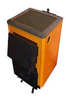 """КОТВ-12П Старобельский твердотопливный котел """"Огонек"""" с плитой для приготовления пищи мощностью 12 кВт."""