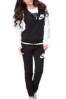 Модный спортивный костюм - тройка 3 в 1, с кенгурушкой, расцветка черно - белая