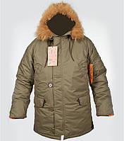 Куртка зимняя N-3B olive Chameleon