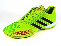 Adidas Predator салатовые сороконожки мужские футбольные, фото 1