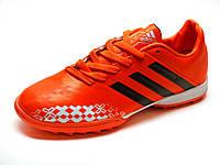 Сороконожки Adidas Predator оранжевые мужские футбольные, фото 1