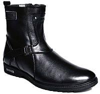 """Зимние ботинки мужские """"Max Mayar"""". Кожаные. Натуральный мех(Цигейка). Кожаные. Высокие"""