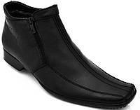 Мужские зимние ботинки. Натуральная шерсть. Черные
