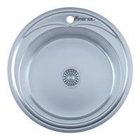 Мойка кухонная IMPERIAL 490A Satin(490*165/180мм)толщина: 0,6 мм, 0,8 мм
