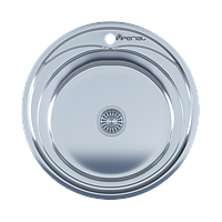 Мойка кухонная IMPERIAL 490A Polish(490*165/180мм)толщина: 0,6 мм, 0,8 мм