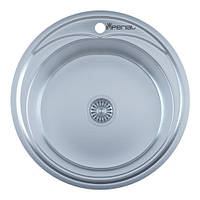 Мойка кухонная IMPERIAL 510A Decor(510*175/180мм)толщина: 0,6 мм, 0,8 мм