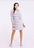 Сорочка, ночная рубашка женская теплая зимняя с длинным рукавом