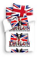 Детское подростковое постельное белье Британец ТМ 4YOU бязь, Лондон, собаки, полуторный