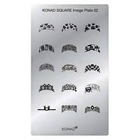 Мини пластина для стемпинга Konad Square Image Plate 02