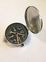 Портативный ручной компас S02 в металлическом корпусе для активного отдыха с крышкой