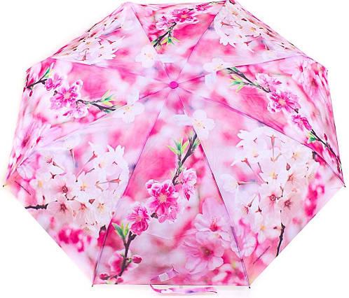 Яркий женский компактный полуавтоматический зонт ZEST (ЗЕСТ) Z24665-11 Антиветер!