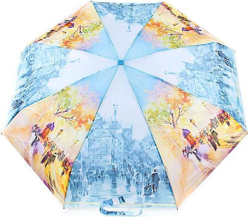 Женский компактный, яркий зонт, полуавтомат ZEST (ЗЕСТ) Z24665-14 Антиветер!