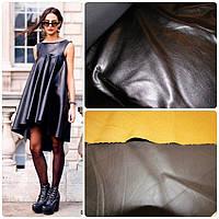 Платье кожаное до колена