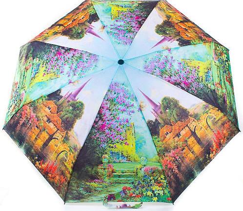 Красочный женский компактный зонт, полуавтомат ZEST (ЗЕСТ) Z24665-3 Антиветер!
