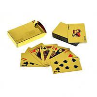 Карты золотые 54шт. 24К колода золотых карт для покера
