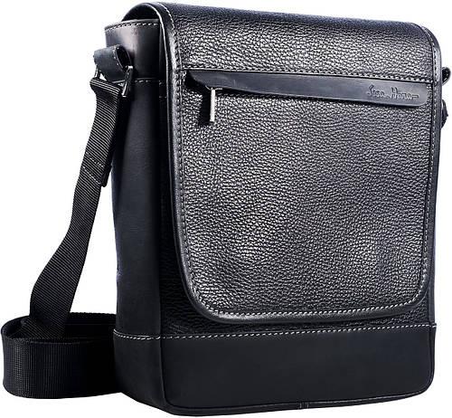 Элегантная мужская сумка-планшет из натуральной кожи ISSA HARA B5-05 (11-31) черная