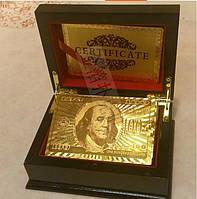 Шкатулка деревянная лакированная для колоды карт