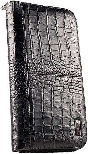 Практичный, кожаный клатч, барсетка ISSA HARA из натуральной кожи CL2 (21-00) черная