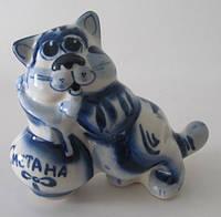 Кот Сметана синий (Гжель)
