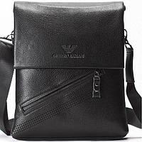 Мужская сумка Armani черного цвета из натуральной кожи