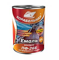 Эмаль для пола ПФ-266 50 кг красно-коричневый  корабельная Поликолор