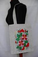 Сумочка - Красные цветы (Сумки с вышивкой)