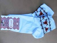 Вышитые носки Красные цветы (Носки с вышивкой)