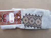 Вышитые носки Время (лен) (Носки с вышивкой)
