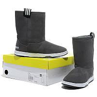 Женские зимние сапоги Adidas  High серые