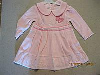 Детское велюровое платье для девочки 2,3  -Турция