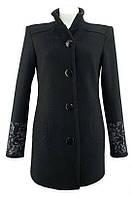 Пальто с вышивкой черное. Великолепное