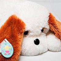 Плюшевая собачка лежачая  65 см. игрушка подушка