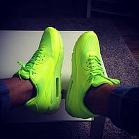 Мужские, кислотные кроссовки Nike Air Max 90 Hyperfuse (аир макс 90)
