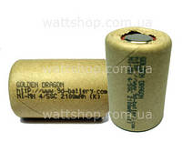 БАНКИ для ремонта аккумуляторов:34Х22 мм:Аккумуляторные элементы 34х22 мм Golden Dragon Ni-MH 4/5SC 2100 mAh 1,2в банки для ремонта аккумуляторов
