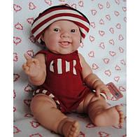Berenguer, кукла пупс Лила в красном комбинезоне 38 см