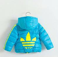 Зимняя куртка Adidas (реплика) голубая