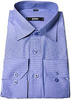 """Рубашка мужская """"Bendu"""". Синяя. Длинный рукав"""