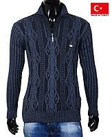 Качественный свитер из шерстяной пряжи на зиму.