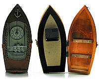 Ключница с часами Лодка